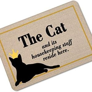 """OHYESS 24""""*36"""" Fashion Lovely Cat Welcome Non-Slip"""